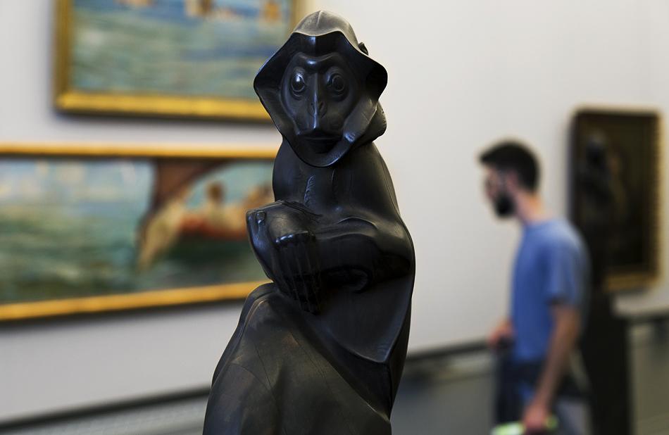 Berlin, Museumsinsel, Alte Nationalgalerie, Anton Puchegger, Budeng-Affe
