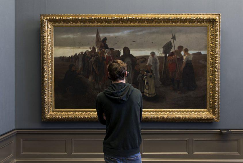 Berlin, Museumsinsel, Alte Nationalgalerie, Gustav Spangenberg, Der Zug des Todes