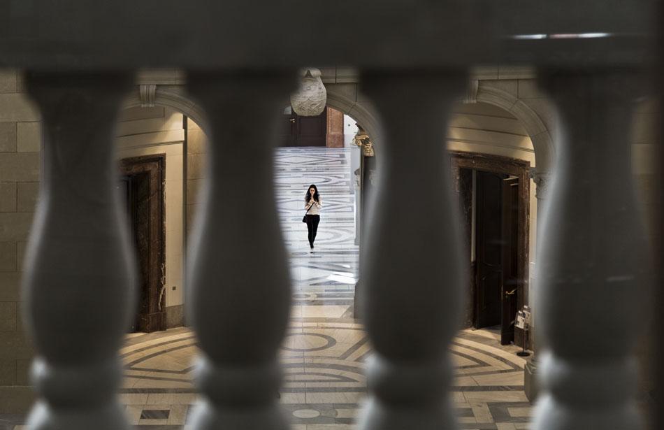 Bode-Museum, Blick vom Balkon der Basilika in die Kameke-Halle