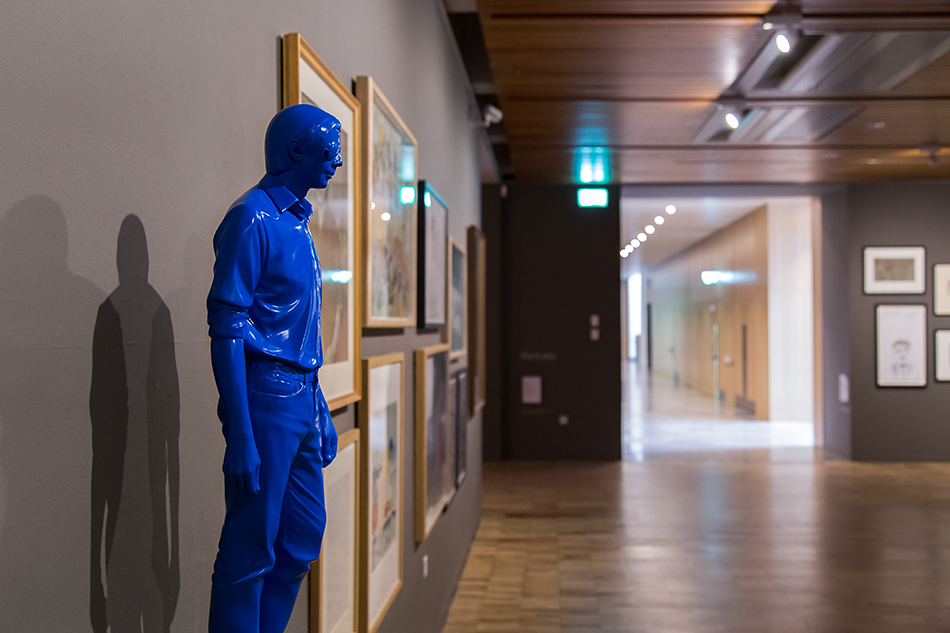 Manchester, Witworth Art Gallery,  Don Brown, Don (Blue)