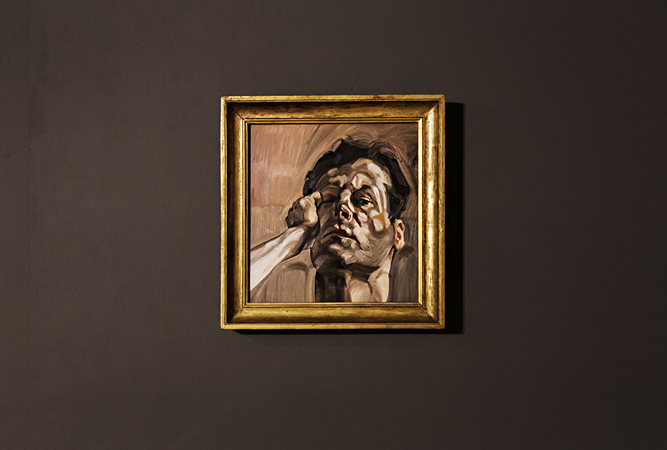 Manchester, Witworth Art Gallery, Lucian Freud, Man's Head (Self Portrait)