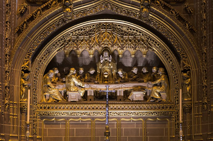 Liverpool Cathedral, Last Supper on the High Altar