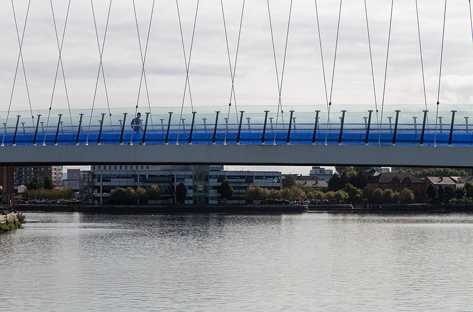 Salford Quays footbridge bridge, The Lowry