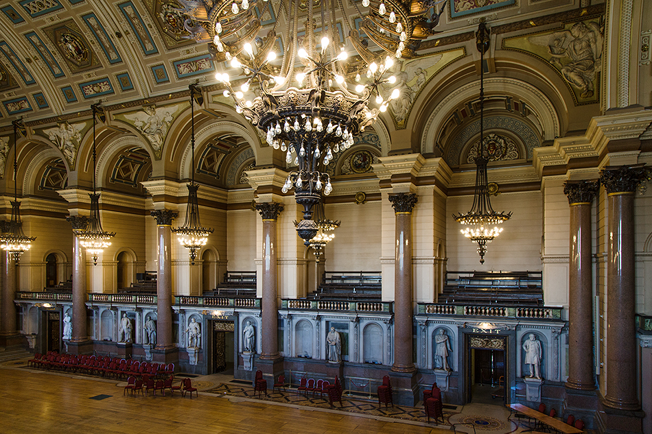 Liverpool, Concert Hall at at St George's Hall
