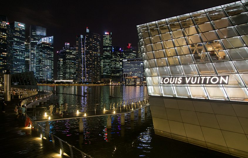 Fabian Fröhlich, Singapore, marina bay, Louis Vuitton Flagship Store