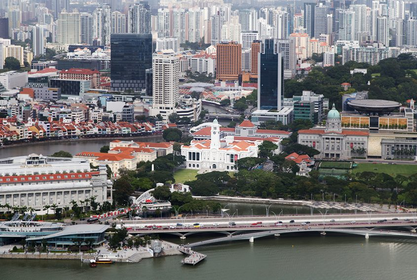Fabian Fröhlich, Singapore, View from Marina bay Sands to Downtown Core