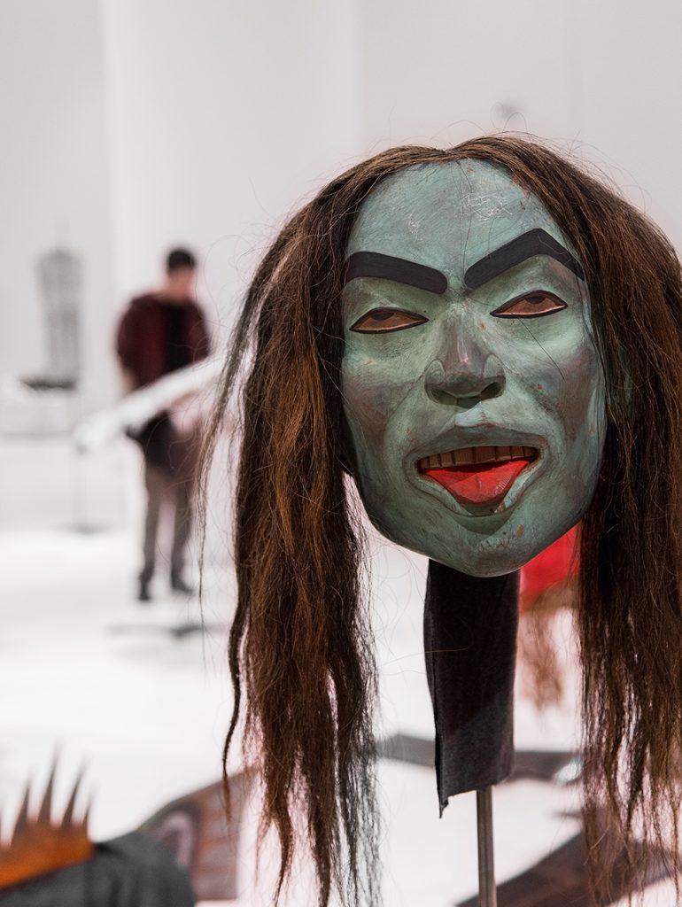 Beau Dick, Mask from the series Undersea Kingdom, EMST, documenta 14, Athen, Fabian Fröhlich