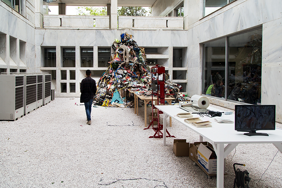 Daniel Knorr, Βιβλίο Καλλιτέχνη, documenta 14, Athens, Odeion, Fabian Fröhlich