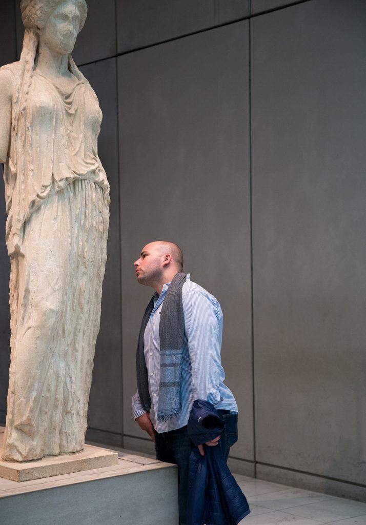 Athens, Acroplis Museum, Caryatid from the Erechtheion