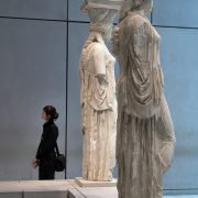 Athens, Acroplis Museum, Caryatids from the Erechtheion