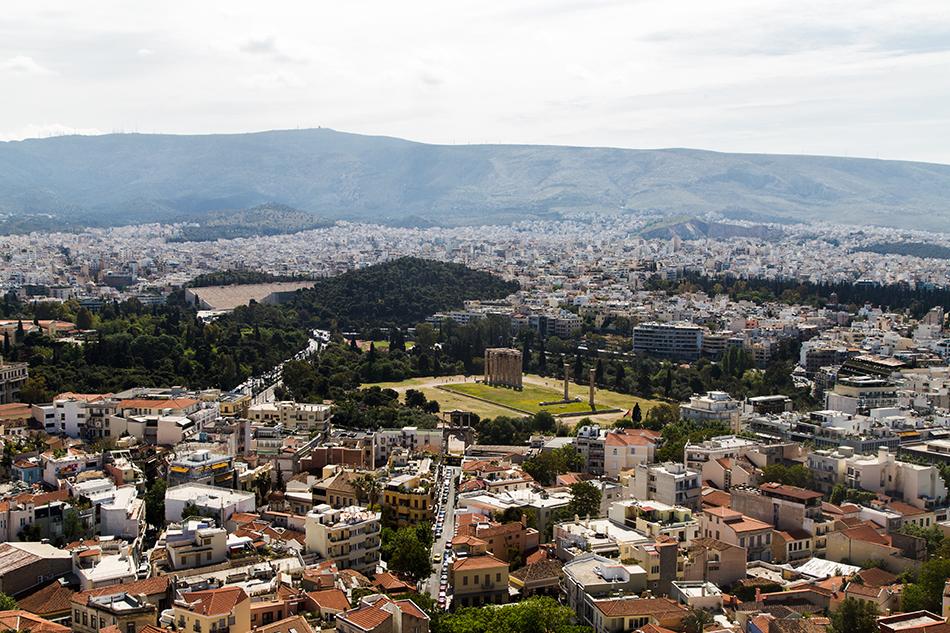 Athen, Blick von der Akropolis zum Tempel des Olympischen Zeus, Fabian Fröhlich
