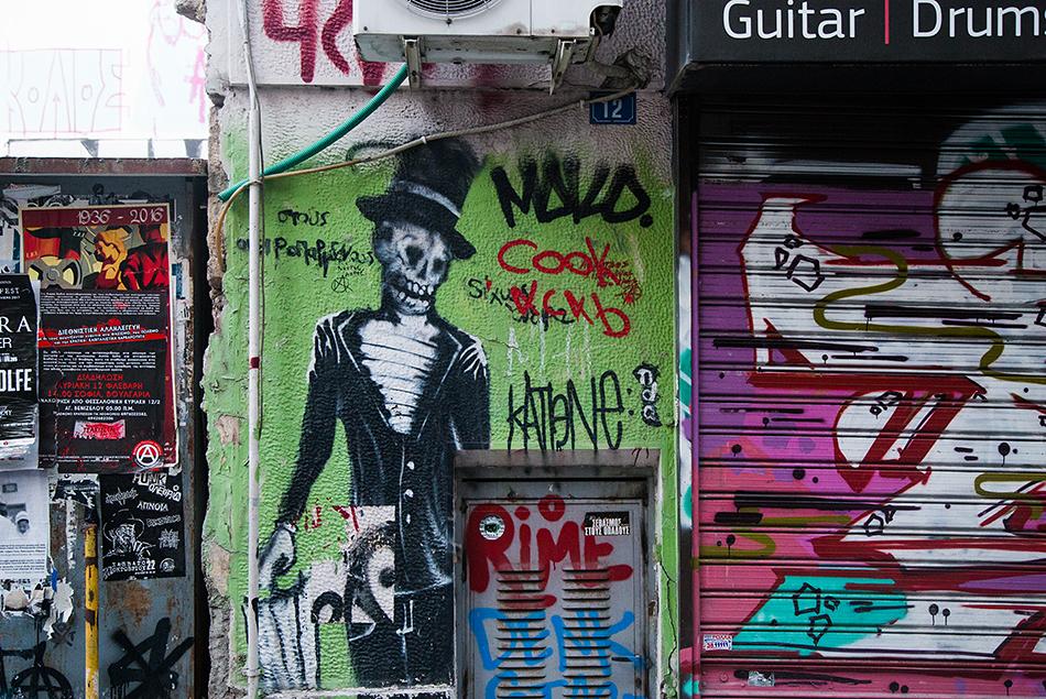 Fabian Fröhlich, Athen, Exarchia, Graffiti