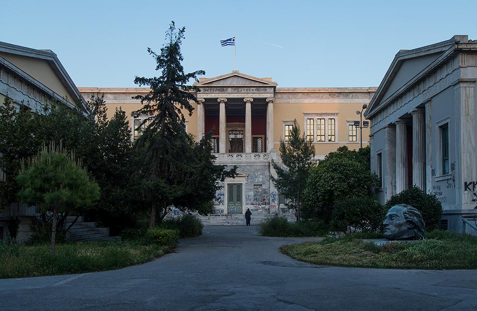 Fabian Fröhlich, Athen, Exarchia, Polytechnion
