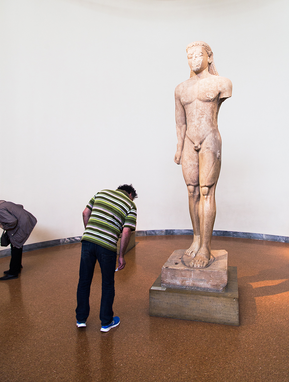 Fabian Fröhlich, National Archaeological Museum of Athens, Sounion Kouros