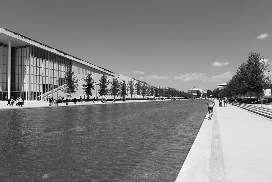 Athen, Canal, Stavros Niarchos Foundation Cultural Center von Renzo Piano