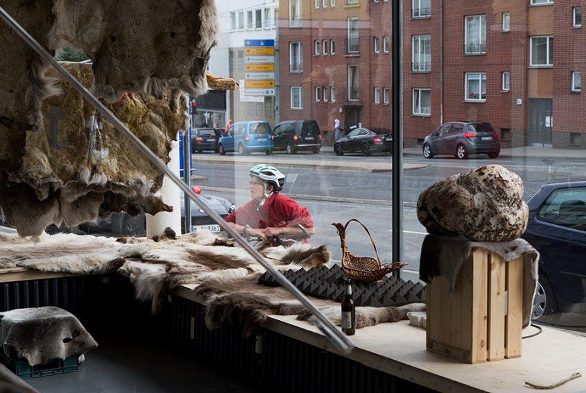 Fabian Fröhlich, documenta 14, Kassel, Joar Nango, European Everything (Glass Pavilions on Kurt-Schumacher-Straße)