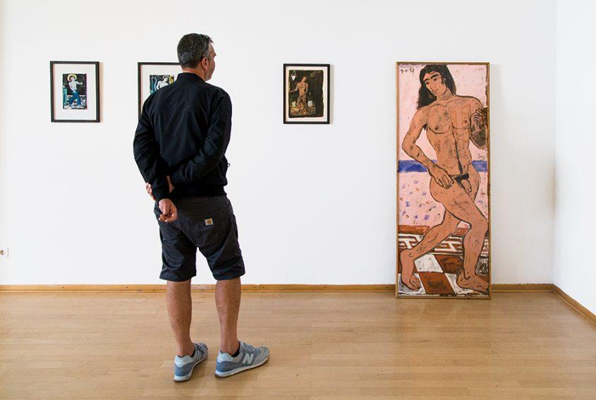 Fabian Fröhlich, documenta 14, Kassel, Yannis Tsarouchis, Nude Dancer with Long Hair (Museum für Sepulkralkultur)