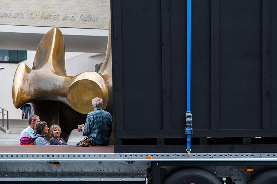 Fabian Fröhlich, Skulptur Projekte Münster, Cosima von Bonin + Tom Burr, Benz Bonin Burr