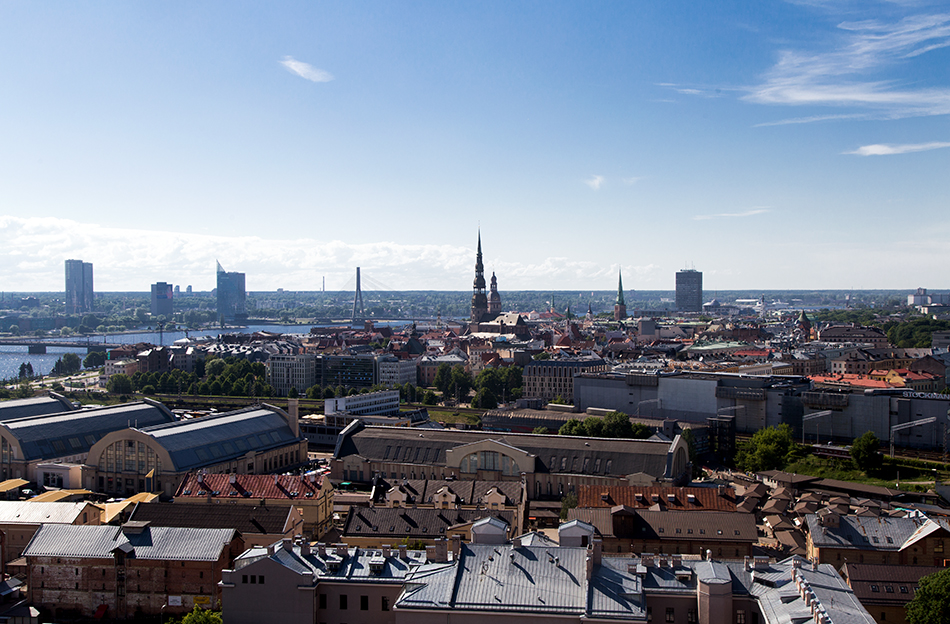 Fabian Fröhlich, Riga, Oldtown, seen from the Latvian Academy of Sciences