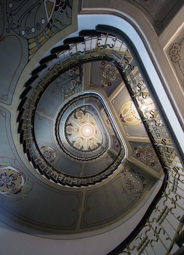Fabian Fröhlich, Riga, Jugendstil, Alberta iela 12 (Staircase at the Art Nouveau Museum)