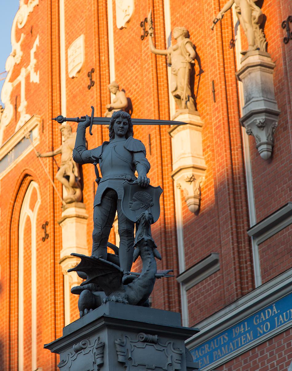 Riga, Historical Centre, St Georg, Schwarzhäupterhaus