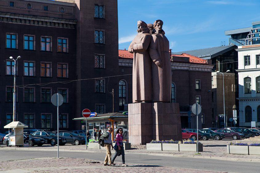 Riga, Historical Centre, Latvian Riflemen Monument