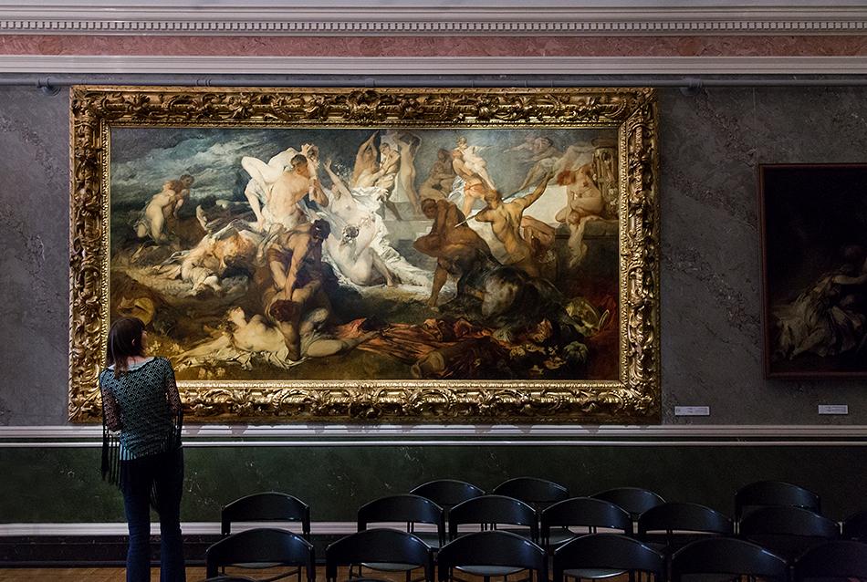Riga, Historical Centre, Mākslas muzejs RĪGAS BIRŽA, HAns Makart