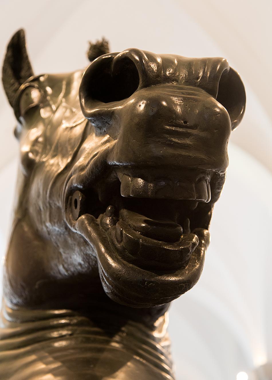 Neapel, Archäologisches Nationalmuseum, Pferdekopf von einer reiterstatue von Donatello