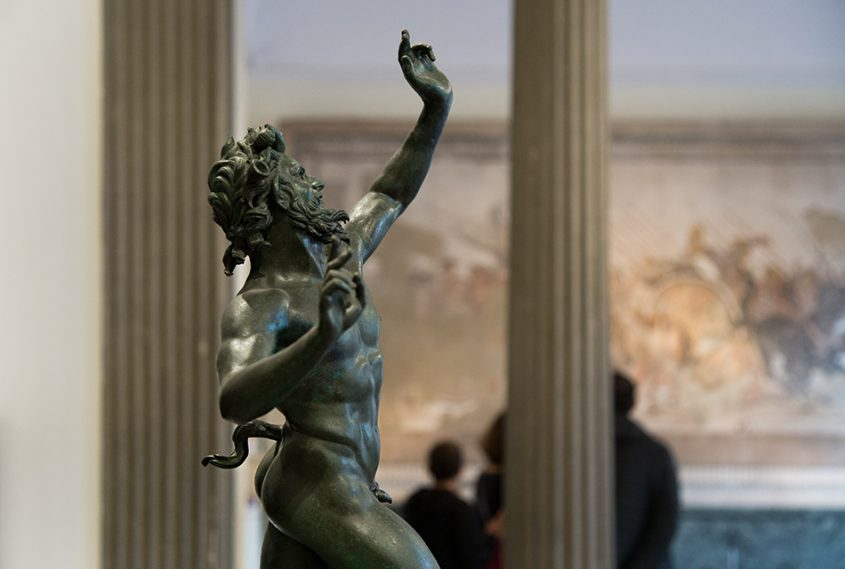 Neapel, Archäologisches Nationalmuseum, Tanzender Faun aus Pompei