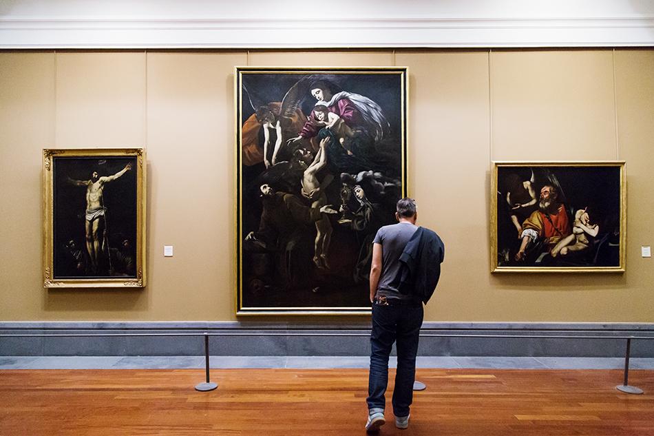 Napoli, Museo Nazionale di Capodimonte, Battistello, Madonna delle anime purganti tra i ss. francesco e chiara