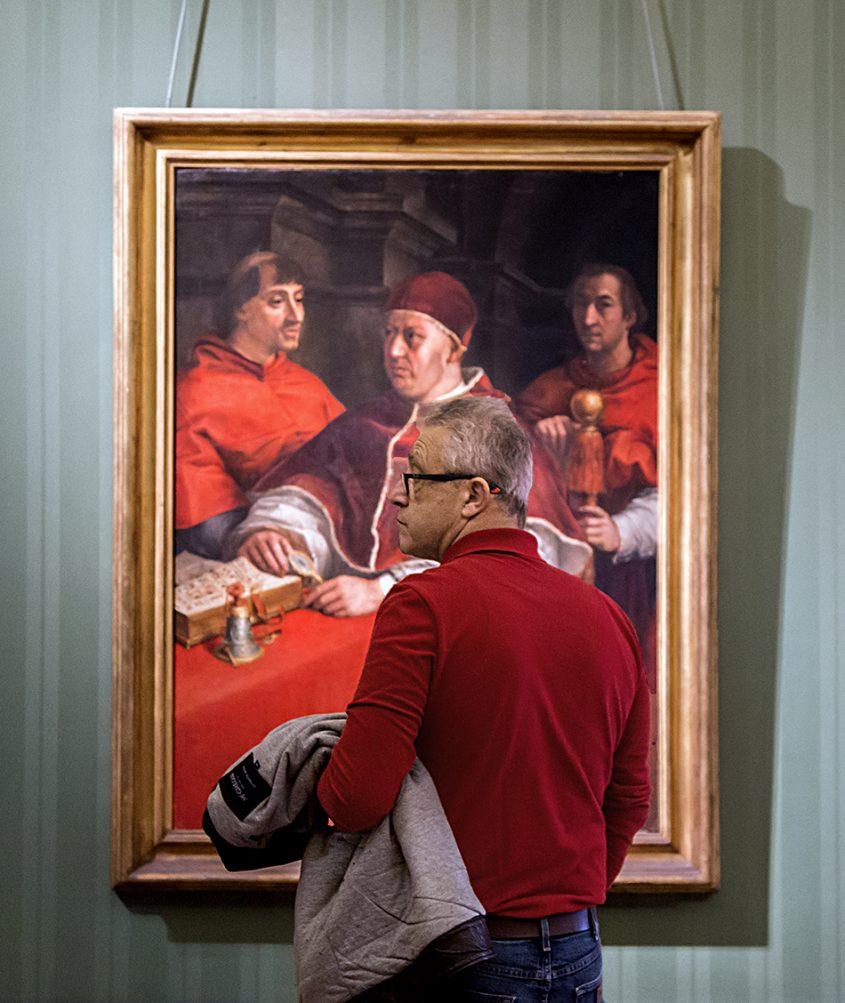 Napoli, Museo Nazionale di Capodimonte, Andrea del Sarto ( Copia da Raffaello) - Ritratto di Leone X con due nipoti cardinali