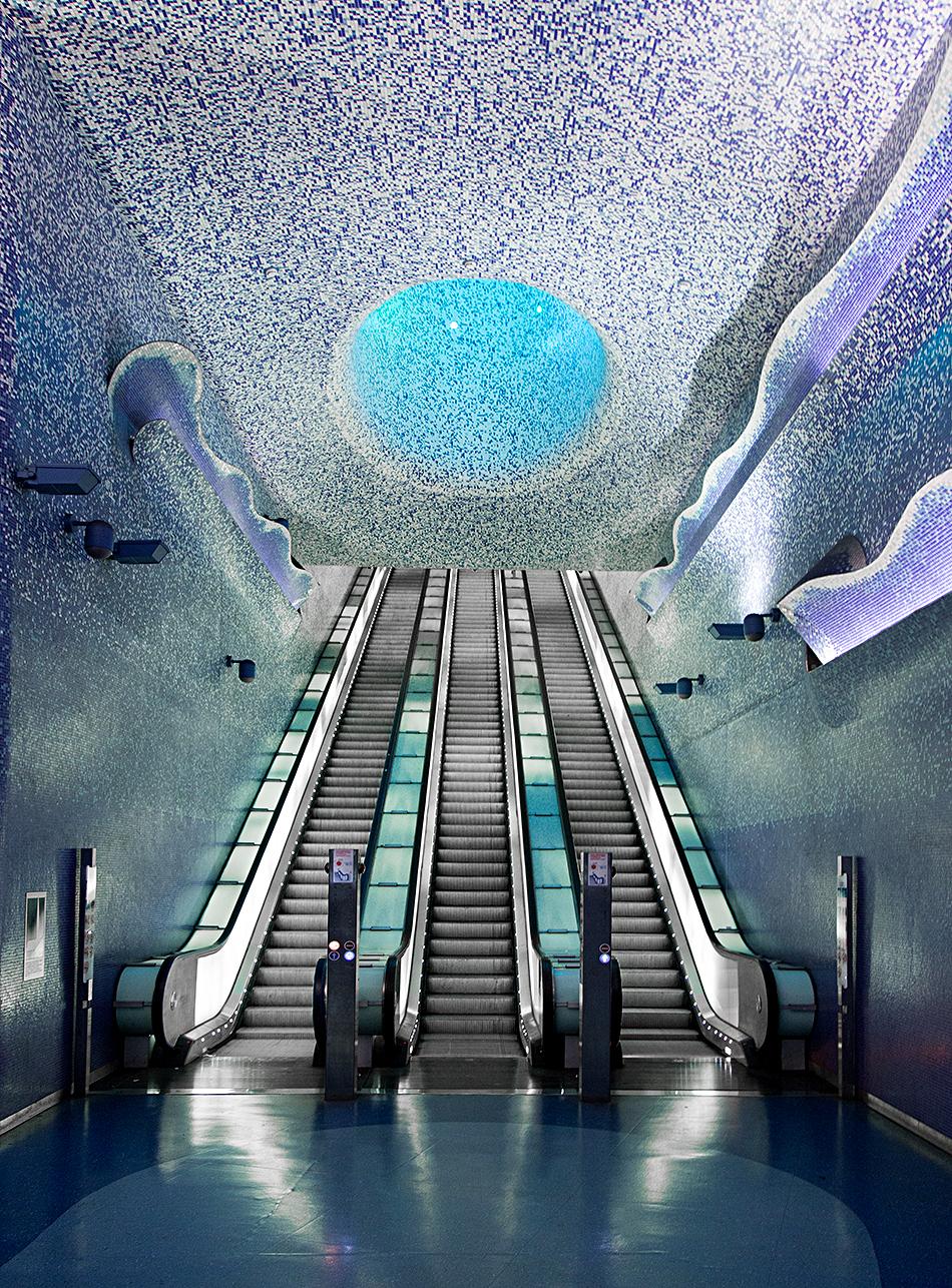 Neapel, Napoli, Metro Station, Toledo