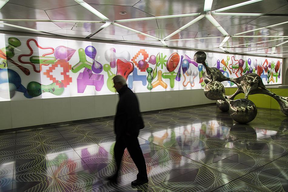 Neapel, Napoli, Metro Station, Università
