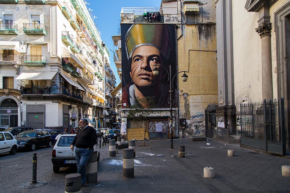Neapel / Napoli, Jorit Agoch, San Gennaro