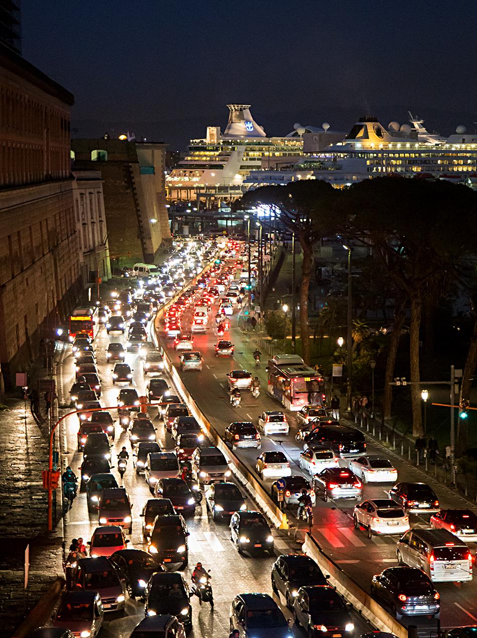 Neapel / Napoli, Via Ammiraglio Ferdinando Acton