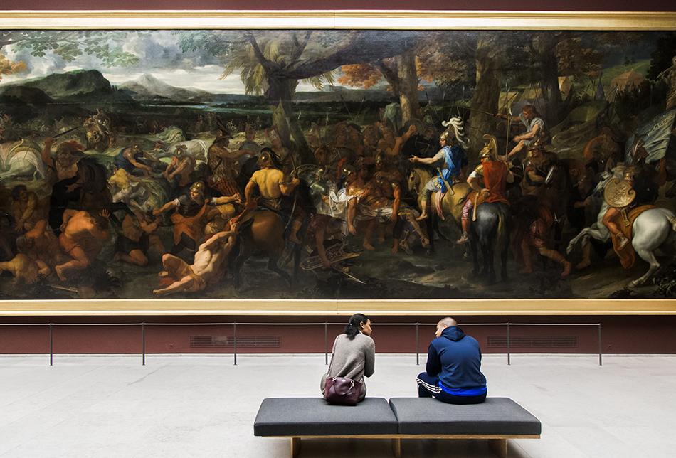 Fabian Fröhlich, Louvre, Charles le Brun, Alexandre et Porus