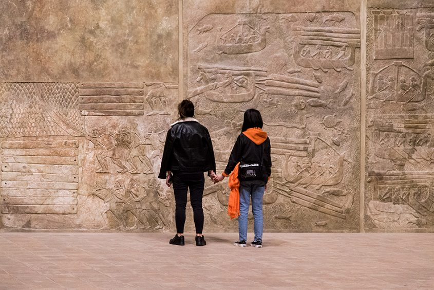 Fabian Fröhlich, Louvre, Assyrian Hall, Transportation of timber