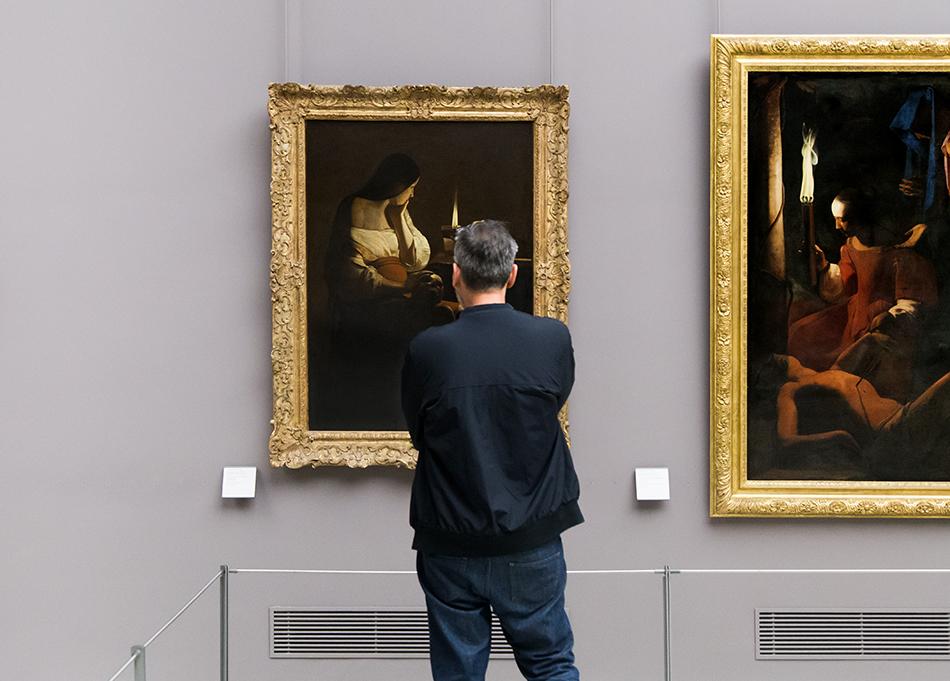Fabian Fröhlich, Louvre, Georges de la Tour, La Madeleine à la veilleuse