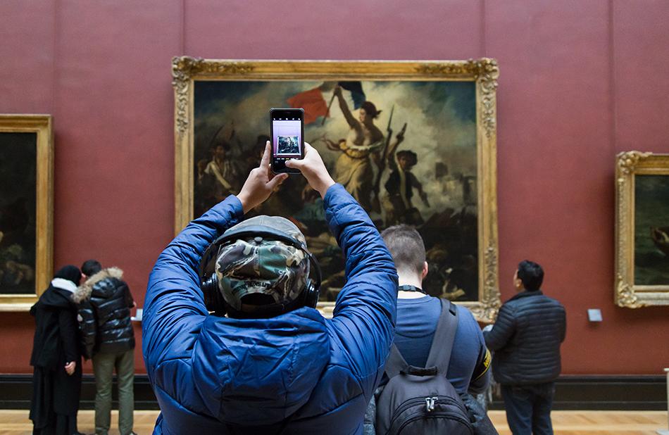 Fabian Fröhlich, Louvre, Eugène Delacroix, La Liberté guidant le peuple