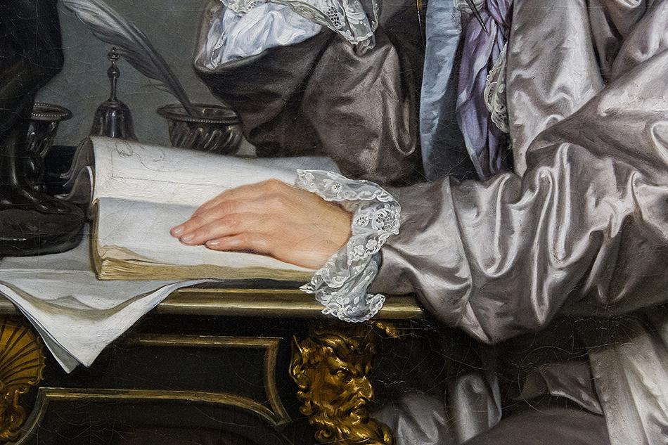 Fabian Fröhlich, Louvre, Jean-Baptiste Greuze, Portrait de Claude Henri Watelet (1718-1786), financier et amateur d'art