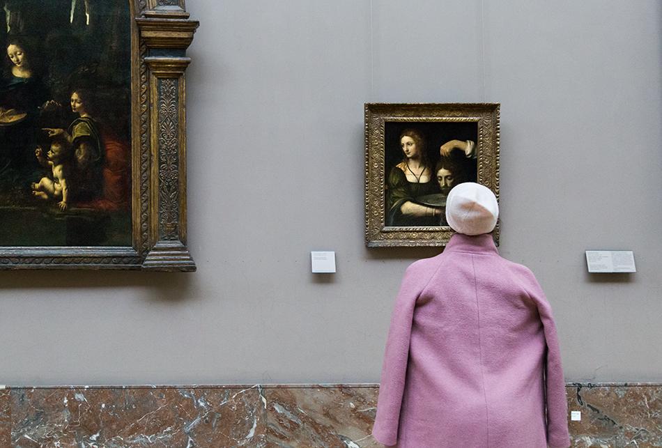 Fabian Fröhlich, Louvre, Bernardino Luni, Salomé reçoit la tête de saint Jean Baptiste