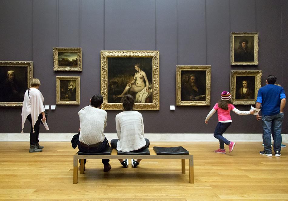 Fabian Fröhlich, Louvre, Rembrandt, Bethsabée au bain tenant la lettre de David