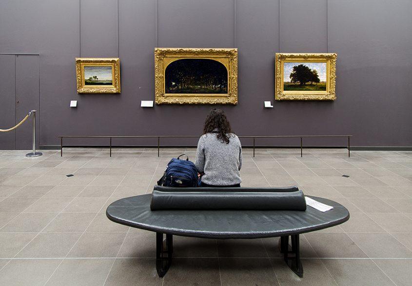 Fabian Fröhlich, Louvre, Théodore Rousseau: L'Allée des chataigniers