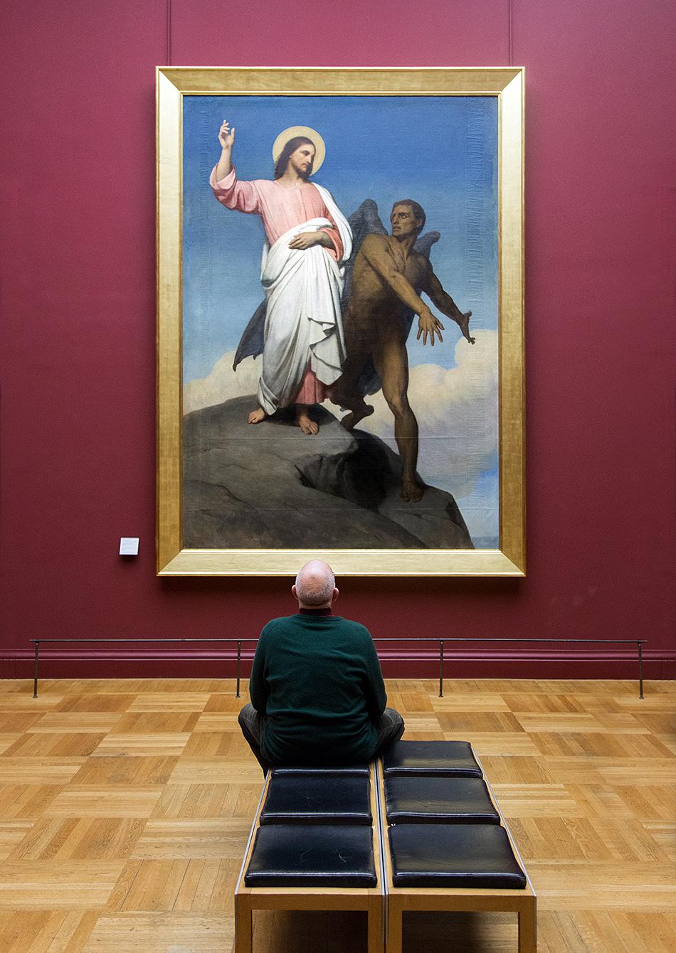 Fabian Fröhlich, Louvre, Ary Scheffer, La tentation du Christ