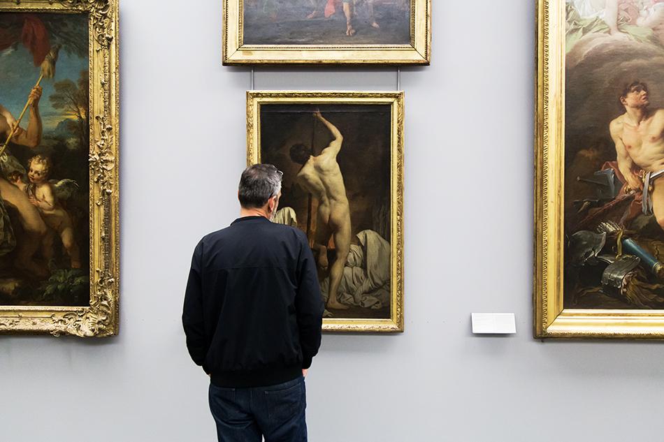 Fabian Fröhlich, Louvre, Subleyras, charon passant les ombres