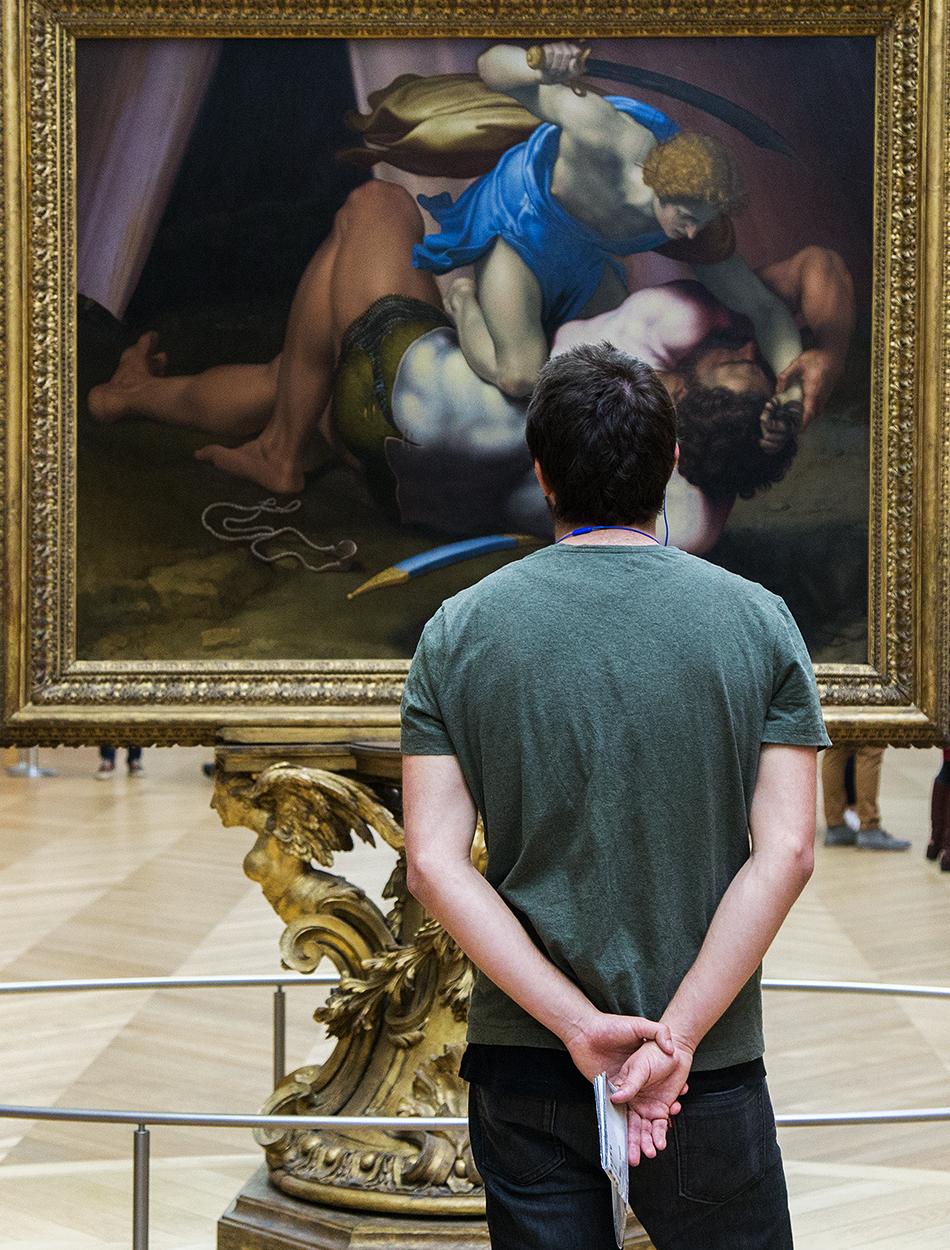 Fabian Fröhlich, Louvre, Daniele da Volterra, Le Combat de David et Goliath