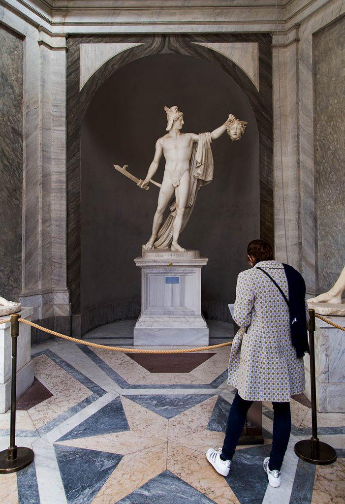 Rom, Vatikanische Museen, Canova, Perseus, Faustkämpfer Damasseno