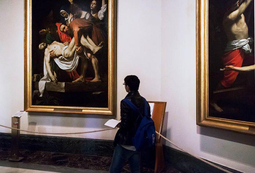 Rom, Vatikanische Museen, Caravaggio,, Kreuzabnahme