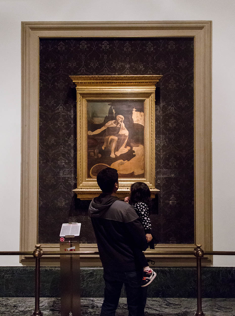 Rom, Vatikanische Museen, Leonardo, Heiliger Hieronymus