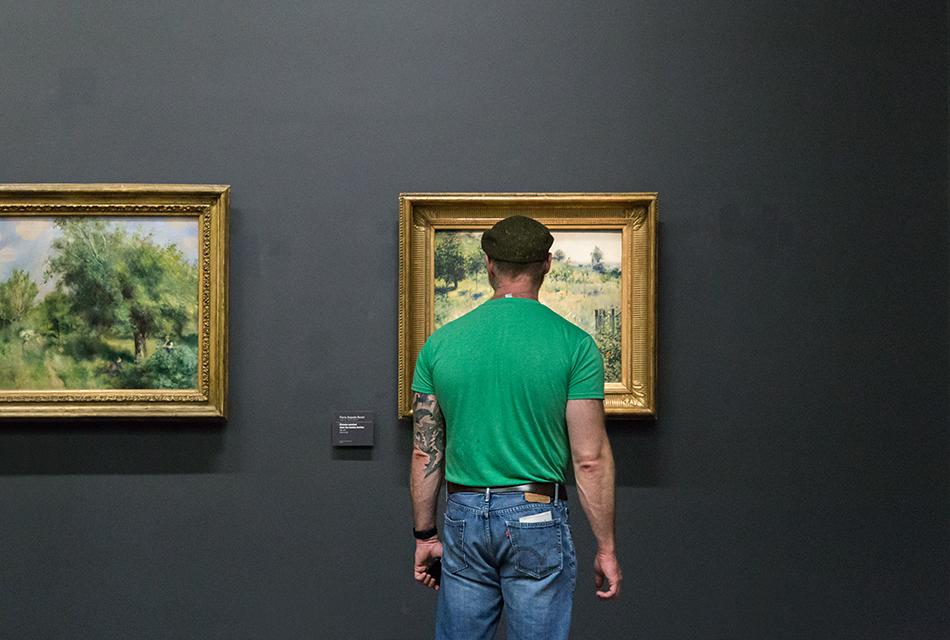 Paris, Musée d'Orsay, Auguste Renoir, Chemin montant dans les hautes herbes